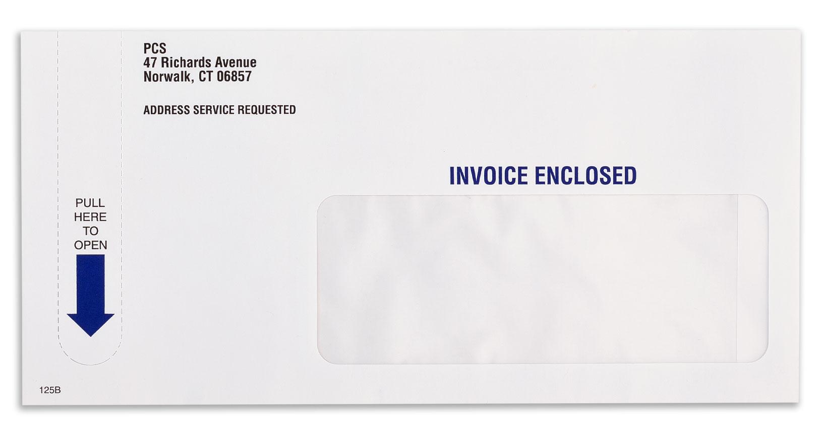 Tear Strip Envelope Example