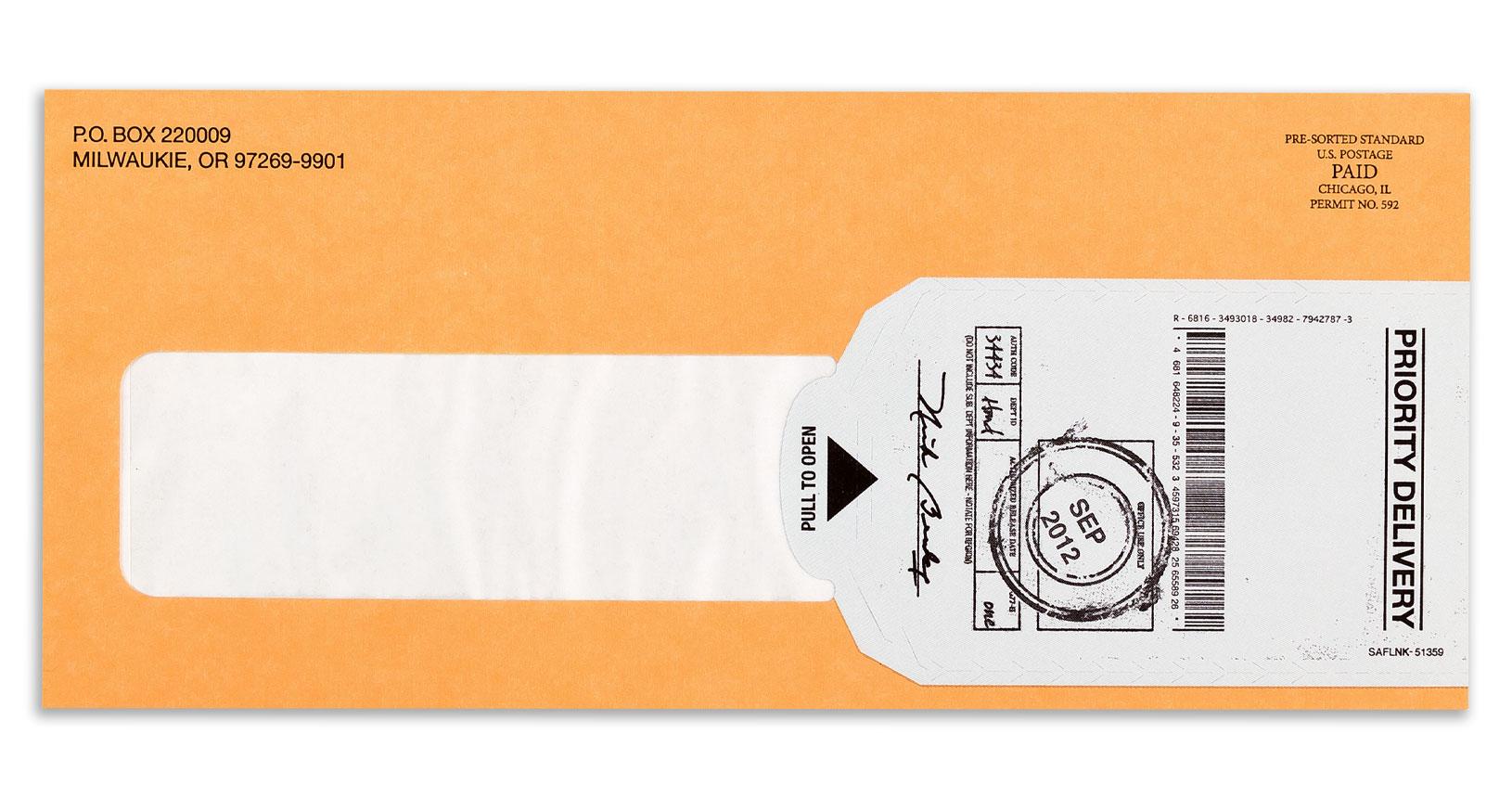 Reveal Envelope Example