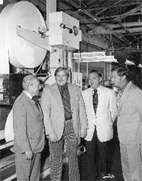 Jerome and salesmen circa 1973