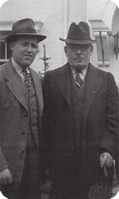 Milton Margulies, Jeromes, brother and partner and George Kaplan from Minnesota Envelope