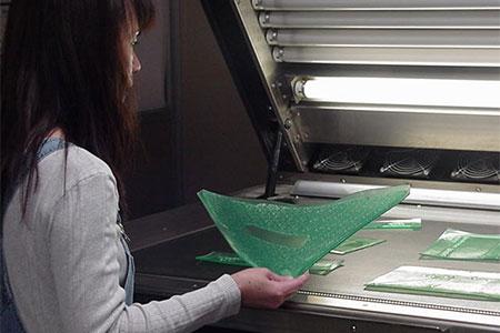 Pre-press department making flexo plates